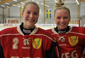 Maja Bohlin och Karin Åström gjorde målen för Sveg i segermatchen mot Västerås.