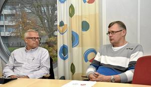 Ledarroller. Bengt Storbacka (S) fick ordförandeposten i det nya utskottet för stöd och strategi. Jonas Kleber (C) blev ordförande i miljöberedningens denna mandatperiods nya sammansättning. Arkivbild: Michael Landberg
