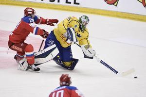 Jacob Markström var tillbaka på svensk mark när Tre Kronor slog Ryssland med 4–1.
