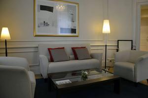 Elite Hotel Knaust. Den här sviten bokas ofta för representation.