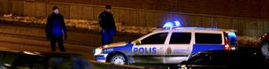 Polisen jobbar aktivt under julhandeln för att förhindra rån. Foto: Pontus Lundahl/Scanpix