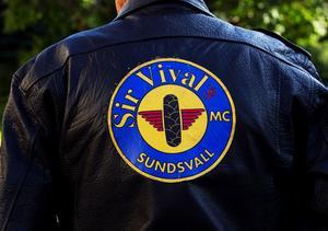 Sir Vival var bara en av de många mc-klubbar som deltog i tisdagens arrangemang. Totalt var ett tiotal klubbar representerade.