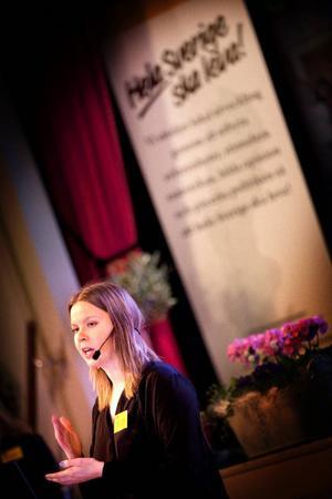 Kristina Ernehed, producent för teaterföreställningen