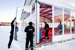 """Glaspaviljongen """"Det goda livet"""" ska utgöra ett varmt och välkomnande festivalcentrum på Stortorget. Här blir det bland annat café med varor från lokala mathantverkare.Foto: Ulrika Andersson"""