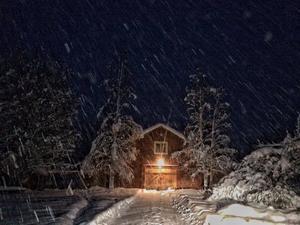 December: Tidig snösmocka över Jämtland.