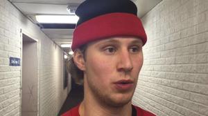 Erik Flood ådrog sig en hjärnskakning efter huvudtackling från Västerviksspelaren.