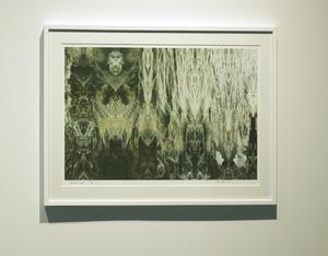green Sea 1. Ett av utställningens båda fotocollage.