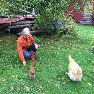 Catrine bytte livsstil och flyttade ut på landet när hon mådde som sämst. Varje dag är numera glädje för henne.