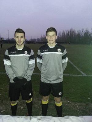 Amaro Bahtijar och Hari Halilovic inför en träning med Udinese.