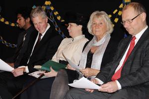 Lars Fagernäs, Peter Westin, Anette Helgesson, Ingrid Björklund och Håkan Englund var inbjudna hedersgäster för att dela ut prisen.