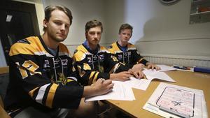 Anton Ekström, Henning Danielsson och Oskar Carlsson spelar i FAIK kommande säsong.