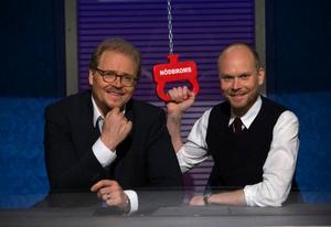 "Fredrik Lindström och Kristian Luuk tar över ""På spåret"". Foto: Bo Håkansson/SVT"