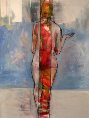 Naket. Lisvor Mattson visar bland annat krokimålning.