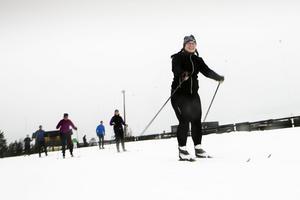 Jessica Sandström från Umeå siktar på att åka Vasaloppets öppna spår i mars. I Sollefteå kan hon träna.