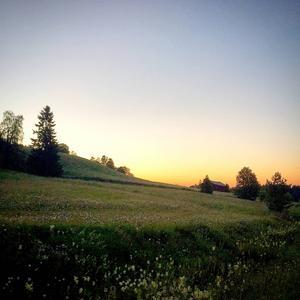 Midnattssol i Offerdalsberg i Offerdal.