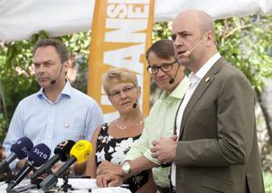 Behöver enas. Alliansens partiledare behöver enas om skatter och bidrag.foto: scanpix