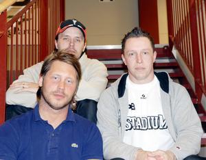 Tillsammans med trion Thomas Brottman, (högst upp till vänster) och Kimmy Dalbjer byggde Patrik Bäck ett innebandyimperium både på herr och damsidan.
