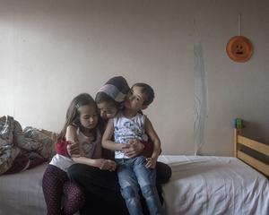 Asylsökande fotograferade av Linda Maria Thompson.