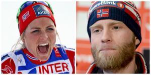 Therese Johaug och Martin Johnsrud Sundby.