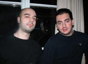 Blue Moon Bar. Roberto och Martini