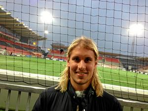 Daniel Björnquist besökte Behrn arena på onsdagen.