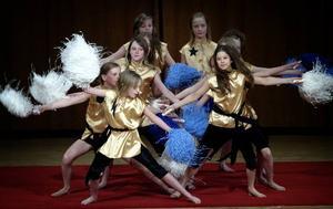 Fartfyllt. Pop pom-gruppen utförde ett uppskattat nummer i bästa cheerleadersstuk under söndagens cirkusgala i Cassels donation.