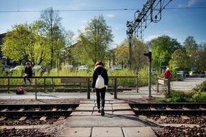 Järnvägsövergången vid Södra station