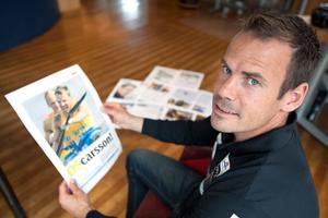 Markus Oscarsson med VLT:s OS-bilaga.