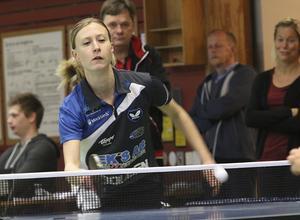 Sofia Westholm var den enda som vann någon match mot Team Öresund Eslöv.