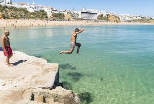 Albufeira, Algarvekusten.