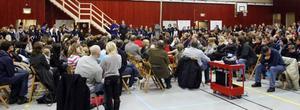 Många intresserade kom till informationsmötet i januari för att höra om planerna att satsa på yngre  elever.
