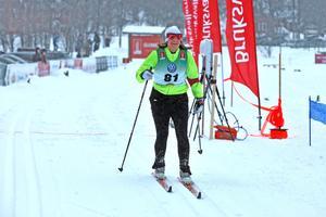 Jenny Modin från SVT Sport körde 21 kilometers loppet. Hon tävlar för Indalslidens Skidklubb.