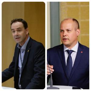 Allan Widman, L, och Morgan Johansson, S, debatterade tolkfrågan i riksdagen på tisdagen. Viljan från Johanssons sida att hjälpa är obefintlig.