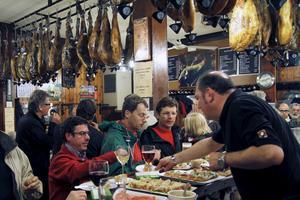 Pintxosfrossa på Bar Vallés.