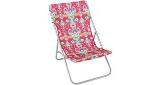 Hopfällbara möbler är enkla att förvara. Den färgglada solstolen kommer från Åhléns och kostar 199 kronor.