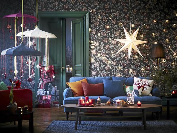 Färgglatt. Starka färger och mönster bryter in som en kontrast mot den mer klassiska trenden. Foto: IKEA