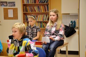 Joel Torége, Ella Nygren och Emma Larsson.
