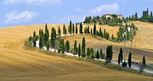 Det toscanska landskapet är favoriten på bilsemestern.