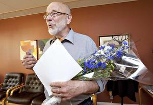 Börje Wallén tilldelades i dag Gävle kommuns kulturpris.