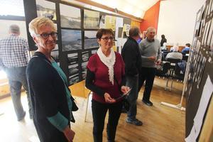 Ruth Dahlbergs pappa härstammade från gården Kullen som dränktes när Lossen dämdes. Både hon och Inge Olofsson tyckte att utställningen och boken var jättebra.