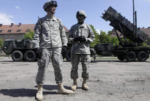 Luftvärnssystemet Patriot visas upp av amerikanska armén i Polen.