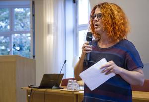Fritidschef Anna Lindqvist vid Hudiksvalls kommun berättade hur föreningar stöttas på olika sätt.