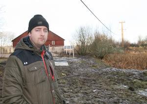 Mattias Sjölund var nära att få flera ton stållinor över sig.