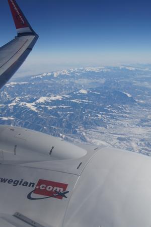 Är ett par timmar i luften från Sverige. Fick denna bild från flygplansfönstret.
