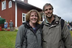 Turister. Anja och Bernd Lindenau från Tyskland är på semester för nionde gången i Sverige.