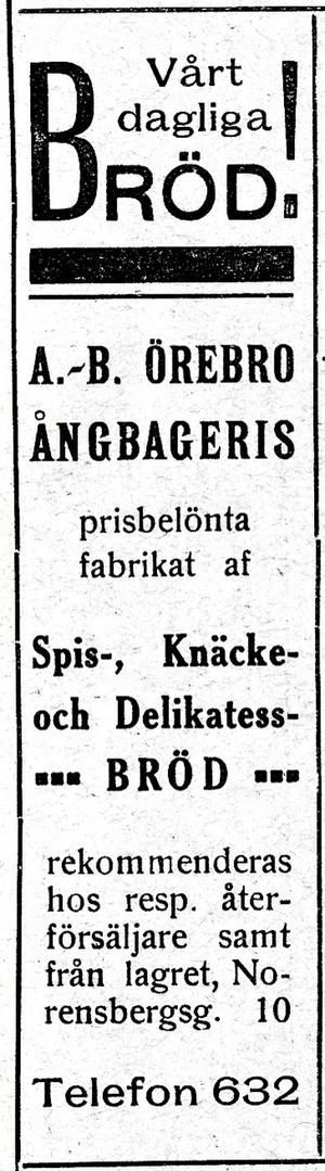 Annons från år 1917.