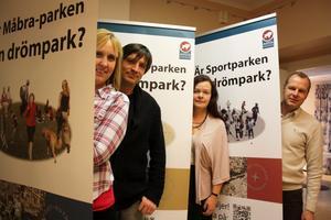 Du bestämmer. Politikerna Susanne Berger, S, Lars Isaksson, S, Gunilla Berglund, C, och Johan Thomasson, M, lämnar nu över sin talan till Avestas medborgare. Din röst kan avgöra vilken park som ska bli till verklighet.