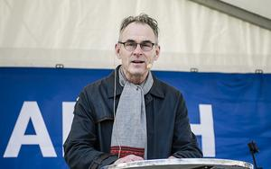 Sverker Sörlin talade vid den globala manifestationen March for Science Stockholm 22 april i år.
