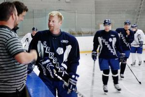 Mr Modo, Mattias Timander gjorde sitt första träningspass med Leksands IF i går.