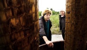 Eva Skåreus, konstnär och lektor vid Umeå universitet, iscensätter Köpmanholmens industriträdgård tillsammans med Katarina Arnqvist.